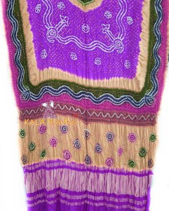 DarkViolate GajiSilk Multi Color Dupatta
