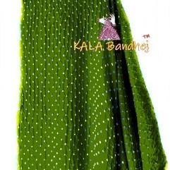 Green GajiSilk Bandhani Dupatta