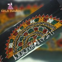 Black Background #3 Kutchi Work Boder