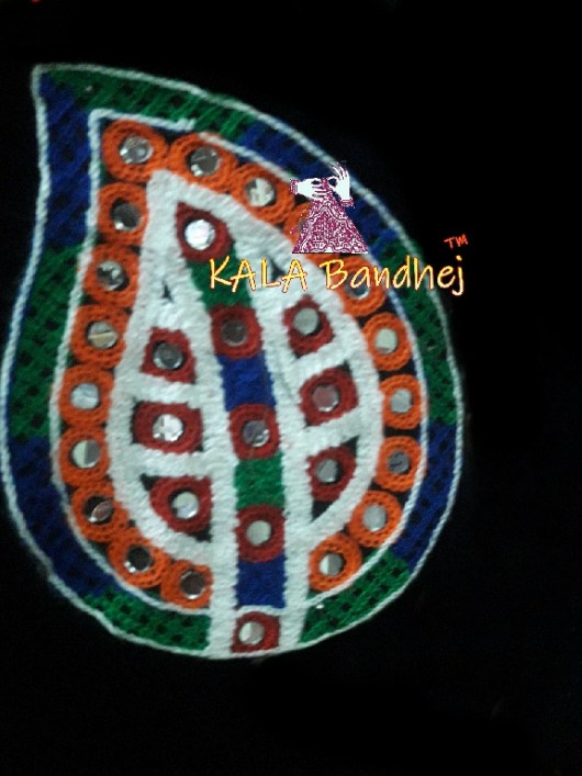 Black Leaf Kutchi Work Patch