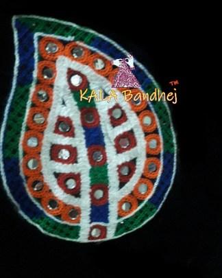 Black Leaf Kutchi Work Patch