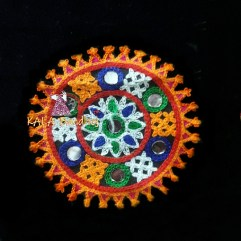 Black Circle Kutchi Work Patch #3