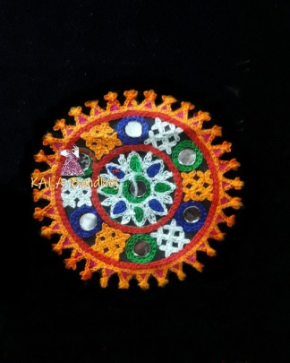 Black Circle Kutchi Work Patch #3
