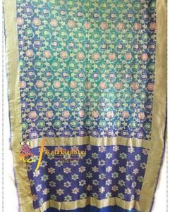Blue_Rama Pure Minakari Saree