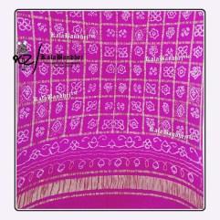 pink Gajisilk Bandhani Gharchola Dupatta