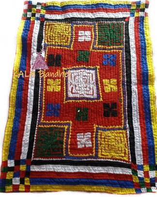 Yellow Kutchi Handmade Dharki / BedSheet