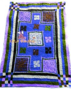 Blue Kutchi Handmade Dharki / BedSheet