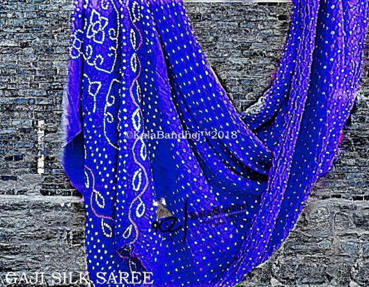 Blue Gaji Silk Saree