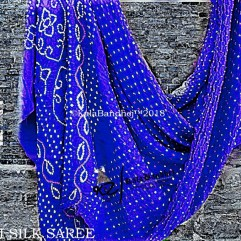 Blue Gaji Silk Saree