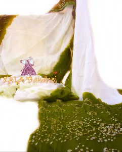 Olive GajiSilk Panetar Bandhani Saree