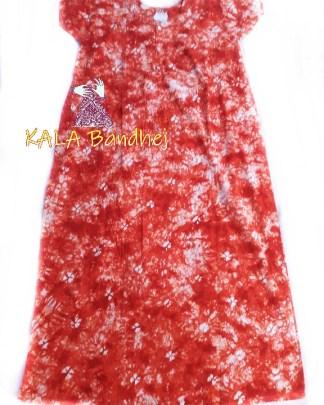 Orange Batic Night Gown