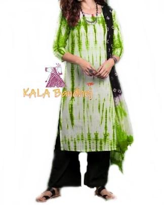 Parrot - Shibori Dress Material