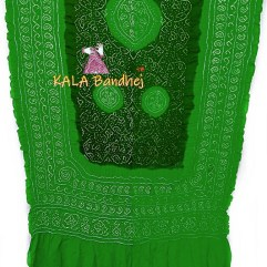 Parrot - Dark Green GajiSilk Shikari Bandhani Dupatta