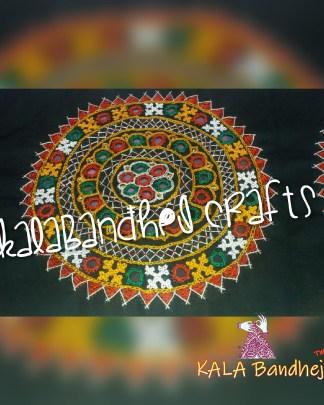 Black Circle Kutchi Work Patch