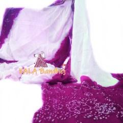 Pink GajiSilk Panetar Bandhani Saree