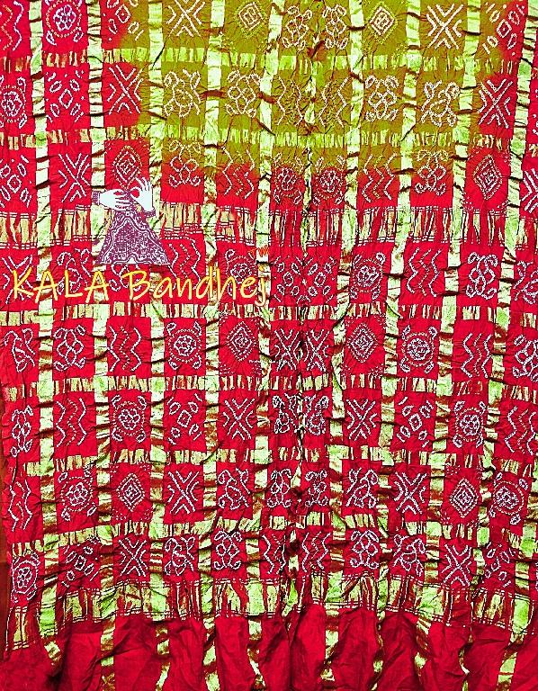 Red-Olive Gharchola Saree