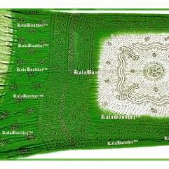 green white Gajisilk dupatta