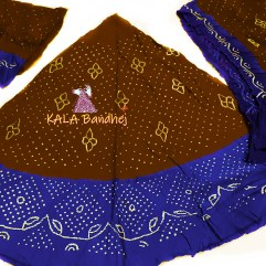 Wood - Night Blue GajiSilk Bandhani Chaniya Choli