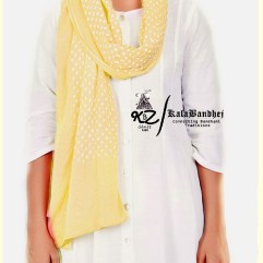 Pal-Gold Cotton Bandhani Dupatta