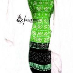 Parrot-Black GajiSilk Gharchola DressMaterial