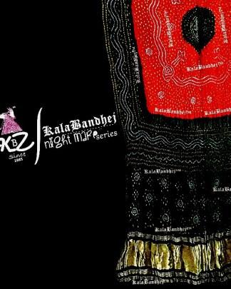 Red-Black Gaji Silk Bandhani Dupatta