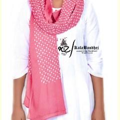 Pal D-Pink Cotton Bandhani Dupatta