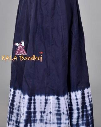 Navy Shibori Kali Skirt Lehenga