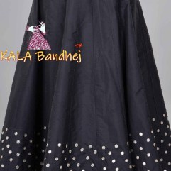 Black Bottom Bandhani Kali Skirt Lehenga