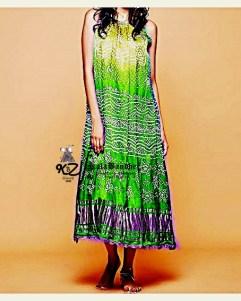 Lemon-Parrot GajiSilk Gown