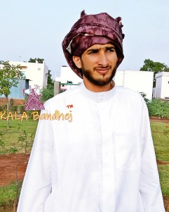 Wine Ajrak Mens Turban