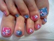 pink nail arts