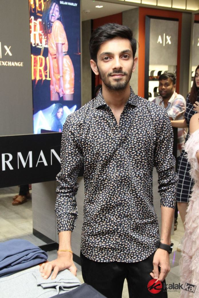 Anirudh at The launch of Armani Exchange Flagship Store