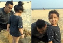 Ms.Dhoni Play with Daughter