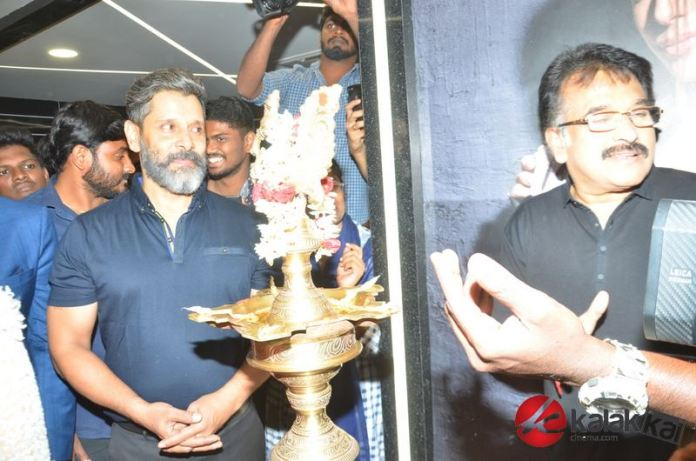 Actor Chiyaan Vikram at the launch of a Fitness Laboratory