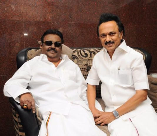 Stalin meet Vijayakanth