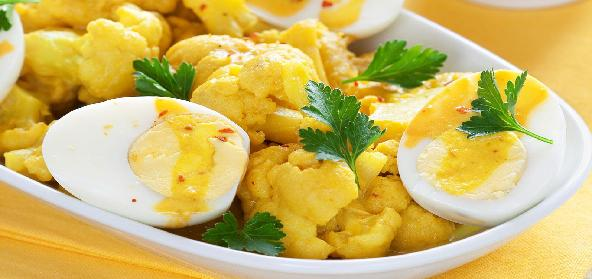 Cauli Flower Egg Curry