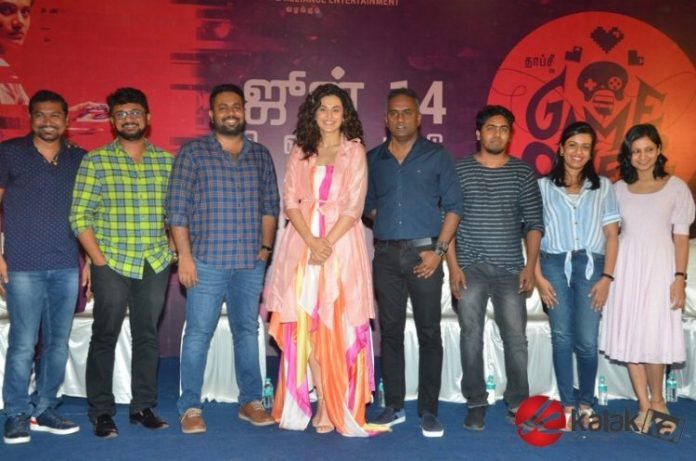Game Over Press Meet Stills | Taapsee Pannu, Ashwin Saravanan, S. Sashikanth, Chakravarthy, Ramachandra, Kaavya Ramkumar, Ron Ethan Yohann, A. Vasanth