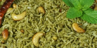Vallarai  Pudina Rice : South Indian Recipe, Easy Rice Recipe, Veg Recipes of India, Quick And Easy Recipes, Indian Recipes, Easy Recipe