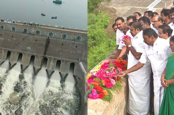 Mettur Dam opened by CM Edappadi : Political News, Tamil nadu, Politics, BJP, DMK, ADMK, Latest Political News, Mettur Dam