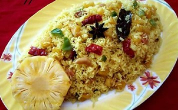 Healthy Pineapple Briyani Recipe : South Indian Recipe, Easy Rice Recipe, Veg Recipes of India, Quick And Easy Recipes, Indian Recipes, Easy Recipe