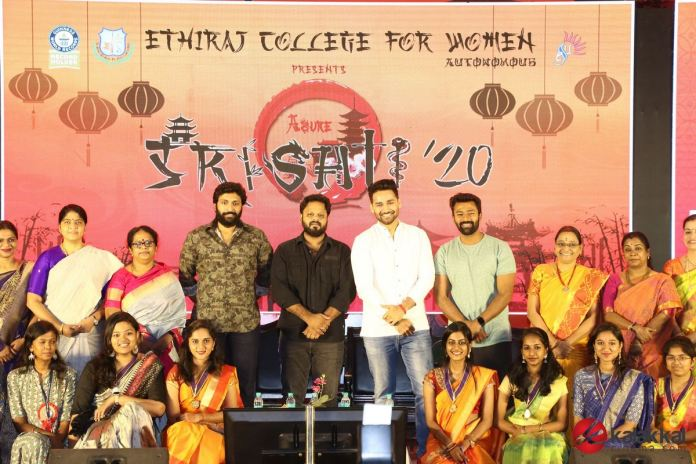 Vaanam Kottattum Team at Ethiraj College Photos
