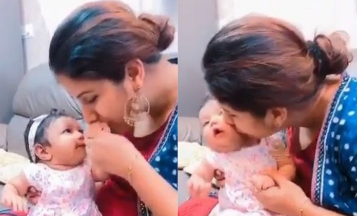 Actress Alya Manasa Video With Baby