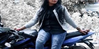 Madhumitha BIke Ride Video
