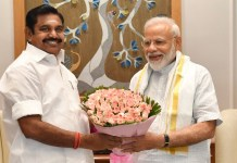Tamil Nadu CM Thanks to PM
