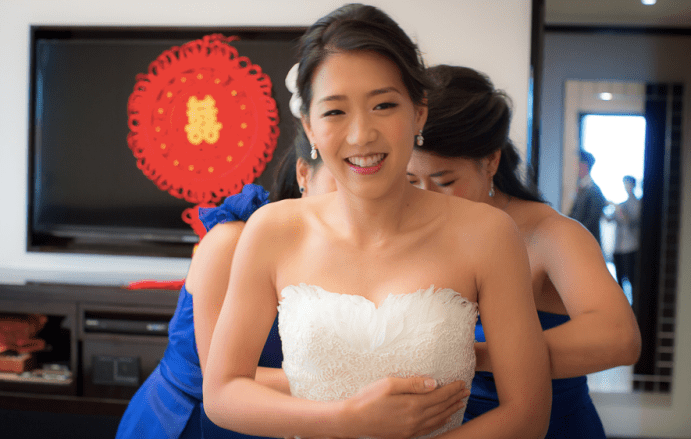 Bride Fiona bridal wedding gown look by Kalamakeup