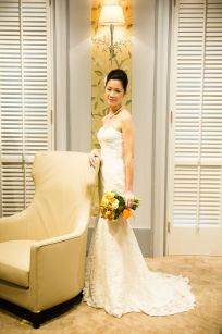 Kalamakeup for bride Jasmine's wedding at Repulse Bay, H.K.