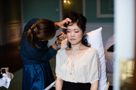 Kalamakeup wedding makeup and hair styling for Mizue at 1881 Heritage