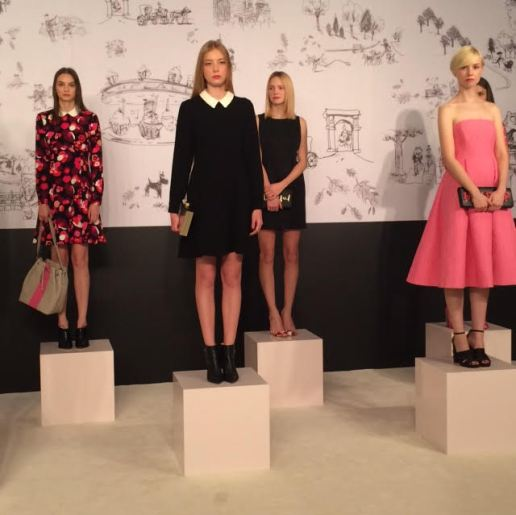 Makeup and hair styling for models at Kate Spade