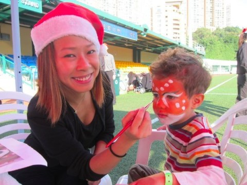 Kalamakeup face painting for kids for Christmas party