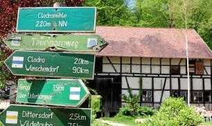 Clodramühle turistajelzés - greiz.otz.de
